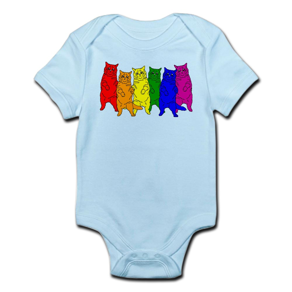CafePress-Rainbow-Cats-Cute-Infant-Bodysuit-Baby-Romper-150420919 thumbnail 9