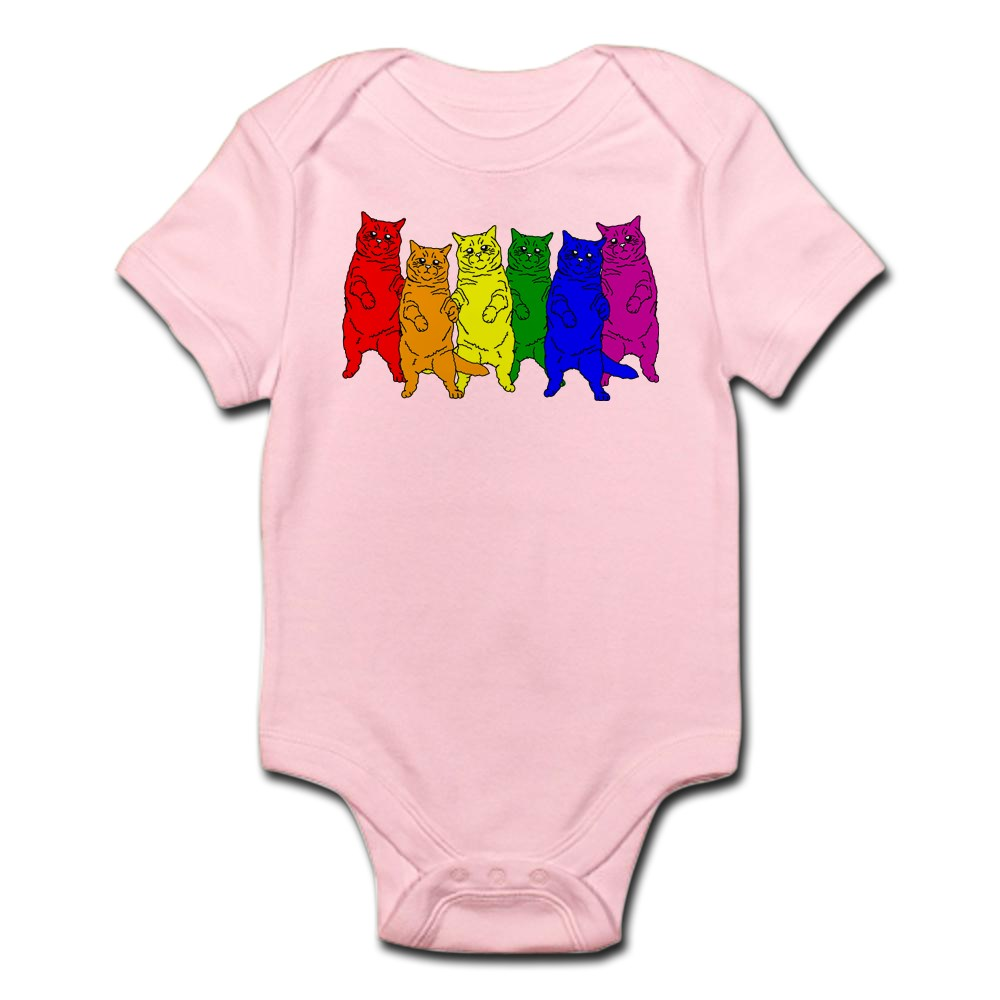 CafePress-Rainbow-Cats-Cute-Infant-Bodysuit-Baby-Romper-150420919 thumbnail 13