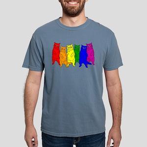 Rainbow Cats Mens Comfort Colors Shirt
