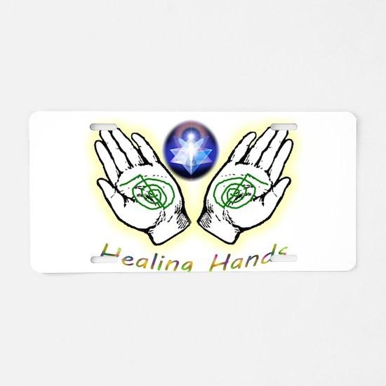 Healing hands Aluminum License Plate