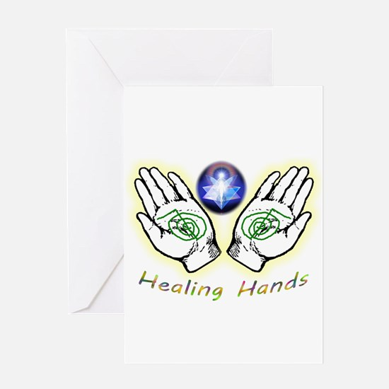 Healing hands Greeting Cards