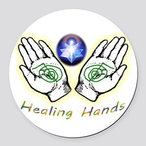 Healing hands Round Car Magnet