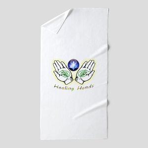Healing hands Beach Towel