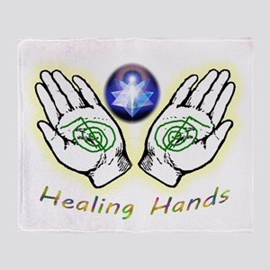 Healing hands Throw Blanket