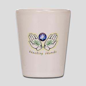 Healing hands Shot Glass