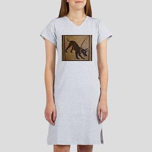 Pompeii Dog Mosaic Women's Nightshirt