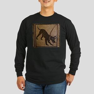 Pompeii Dog Mosaic Long Sleeve Dark T-Shirt