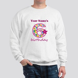 6th Birthday Splat - Personalized Sweatshirt