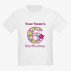 6th Birthday Splat - Personaliz Kids Light T-Shirt