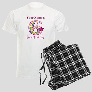 6th Birthday Splat - Personal Men's Light Pajamas