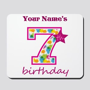 7th Birthday Splat - Personalized Mousepad