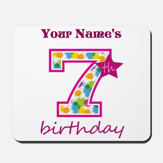 7th Birthday Splat - Personalized Mousepad