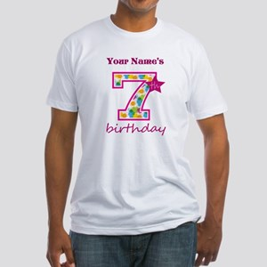 7th Birthday Splat - Personalized Fitted T-Shirt