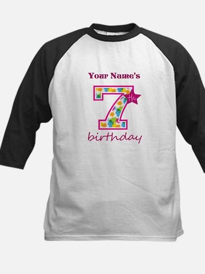 7th Birthday Splat - Personal Kids Baseball Jersey