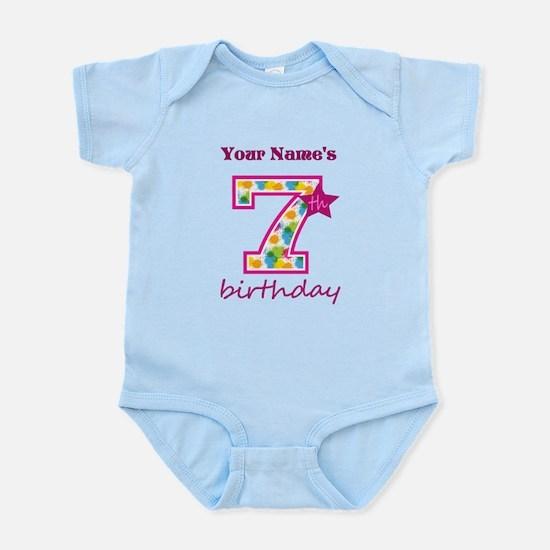 7th Birthday Splat - Personalized Infant Bodysuit