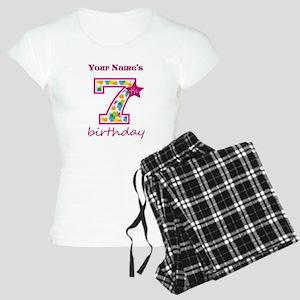7th Birthday Splat - Person Women's Light Pajamas