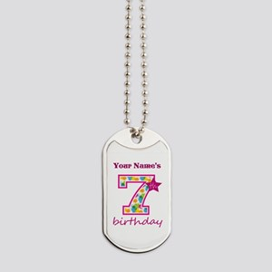 7th Birthday Splat - Personalized Dog Tags