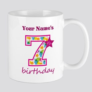 7th Birthday Splat - Personalized Mug
