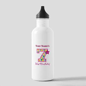 7th Birthday Splat - P Stainless Water Bottle 1.0L