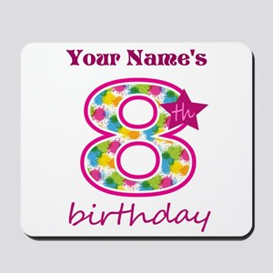8th Birthday Splat - Personalized Mousepad