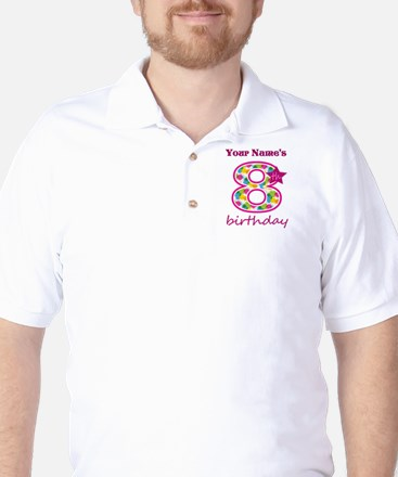 8th Birthday Splat - Personalized Golf Shirt