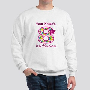8th Birthday Splat - Personalized Sweatshirt