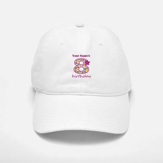 8th Birthday Splat - Personalized Baseball Baseball Cap