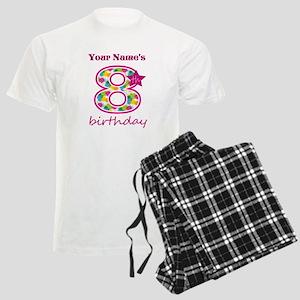 8th Birthday Splat - Personal Men's Light Pajamas