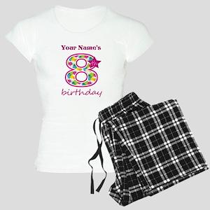 8th Birthday Splat - Person Women's Light Pajamas