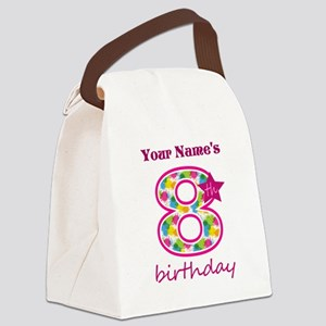 8th Birthday Splat - Personalized Canvas Lunch Bag
