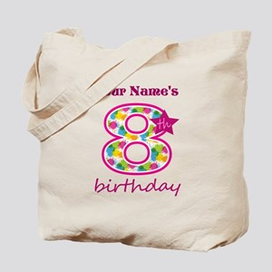 8th Birthday Splat - Personalized Tote Bag
