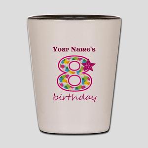 8th Birthday Splat - Personalized Shot Glass