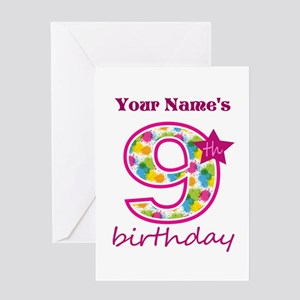 9 Years Old Greeting Cards