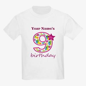 9th Birthday Splat - Personaliz Kids Light T-Shirt