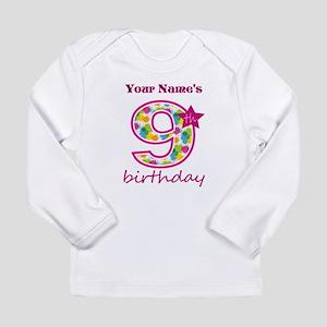 9th Birthday Splat - Pe Long Sleeve Infant T-Shirt