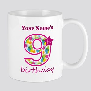 9th Birthday Splat - Personalized Mug
