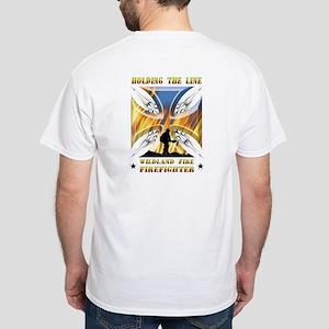 Wildland Firefighter (Holding the Li White T-Shirt