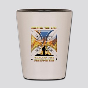 Wildland Firefighter (Holding the Line) Shot Glass