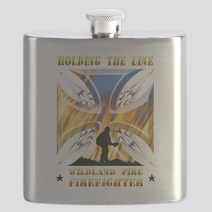 Wildland Firefighter (Holding the Line) Flask