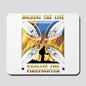 Wildland Firefighter (Holding the Line) Mousepad