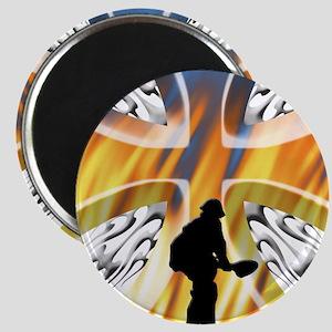 Wildland Firefighter (Holding the Line) Magnet