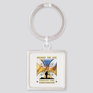Wildland Firefighter (Holding the Square Keychain