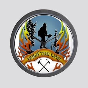 Wildland Firefighter (Hold the Line) Wall Clock