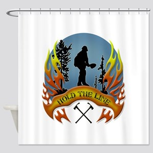Wildland Firefighter (Hold the Line Shower Curtain