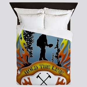 Wildland Firefighter (Hold the Line) Queen Duvet