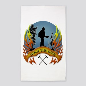 Wildland Firefighter (Hold the Line) Area Rug