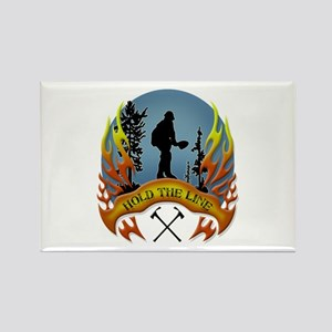 Wildland Firefighter (Hold the Li Rectangle Magnet