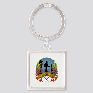 Wildland Firefighter (Hold the Lin Square Keychain