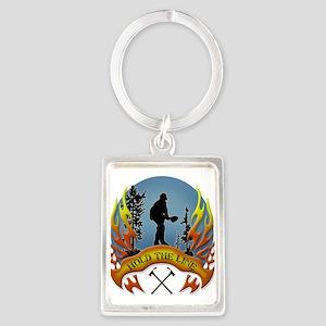 Wildland Firefighter (Hold the L Portrait Keychain