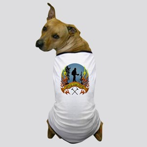 Wildland Firefighter (Hold the Line) Dog T-Shirt